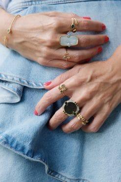 bali gemstone adjustable ring green onyx wish paris jewellery