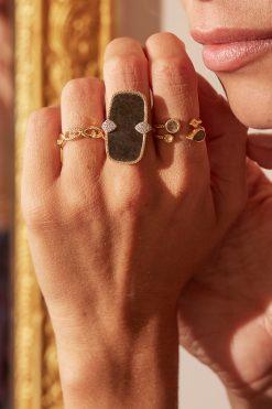 bali gemstone adjustable ring black onyx wish paris jewellery