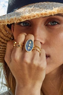 bali gemstone adjustable ring labradorite wish paris jewellery
