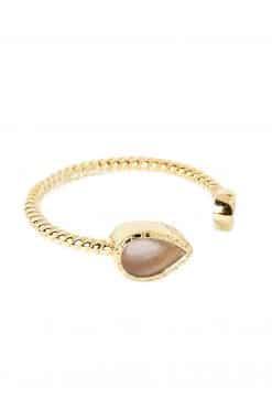 bali gemstone adjustable ring rose quartz wish paris jewellery