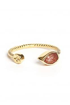 bali gemstone adjustable ring strawberry quartz wish paris jewellery