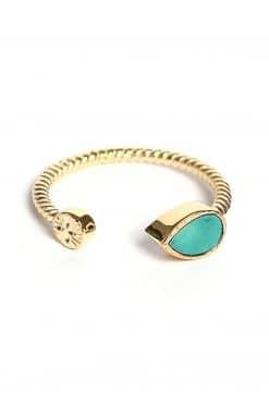 bali adjustable gemstone ring turquoise wish paris jewellery