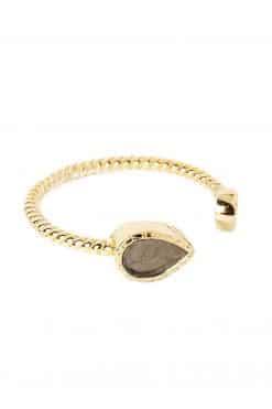 bali gemstone adjustable ring pyrite wish paris jewellery