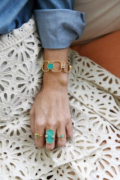 kaia maxi gemstone bracelet turquoise wish paris jewellery