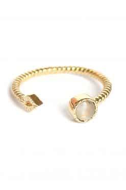 livy adjustable gemstone ring moonstone wish paris jewellery