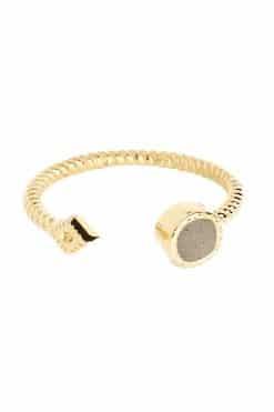 livy adjustable gemstone ring pyrite wish paris jewellery