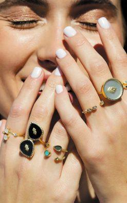 oma gemstone ring black onyx wish paris jewellery