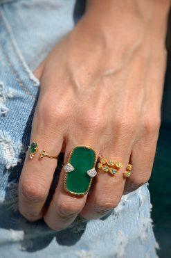 tara adjustable gemstone ring turquoise wish paris jewellery