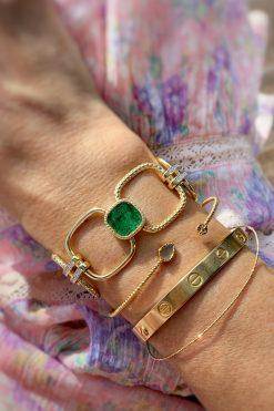 kaia maxi gemstone bracelet aventurine wish paris jewellery