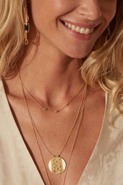 tara gemstone necklace black zircons wish paris jewellery