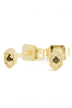 tara gemstone stud earrings black onyx wish paris jewellery