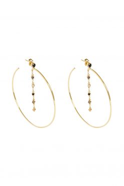 mahdi gemstome hoop earrings black onyx labradorite and moonstone wish paris jewellery