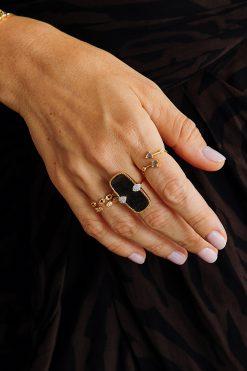 galia adjustable gemstone ring labradorite wish paris jewellery