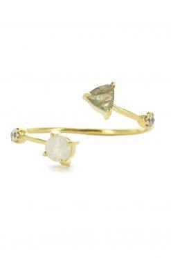 galia adjustable gemstone ring moonstone and labradorite wish paris jewellery
