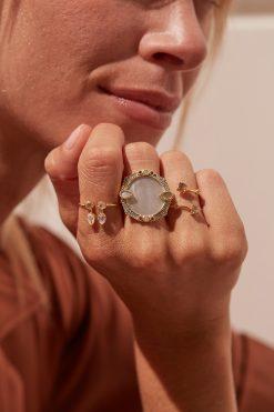 safra adjustable gemstone ring moonstone wish paris jewellery