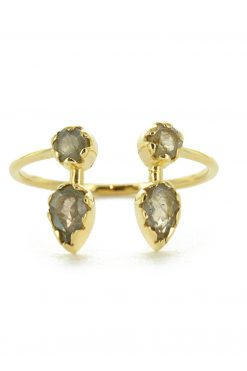 safra adjustable gemstone ring labradorite wish paris jewellery