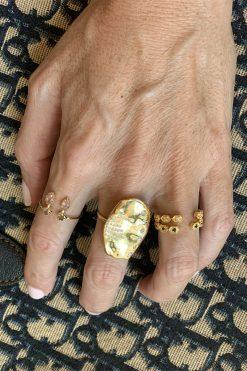 safra adjustable gemstone ring labradorite and strawberry quartz wish paris jewellery