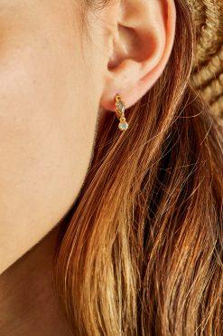 safra gemstone mini hoop earrings labradorite wish paris jewellery