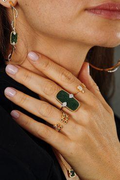 mani adjustable gemstone ring moonstone wish paris jewellery