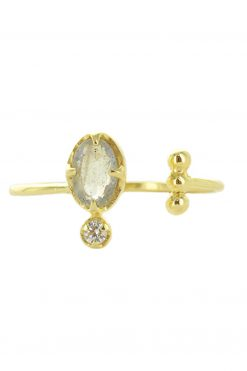 mani adjustable gemstone ring labradorite wish paris jewellery