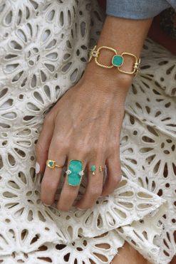 mani adjustable gemstone ring turquoise wish paris jewellery