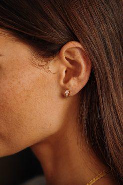 mani gemstone stud earrings moonstone wish paris jewellery