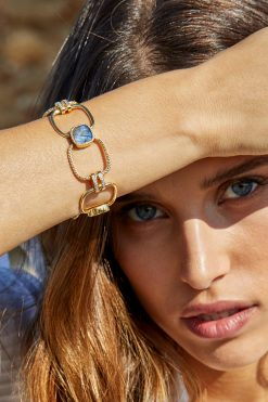 kaia maxi gemstone bracelet labradorite wish paris jewellery