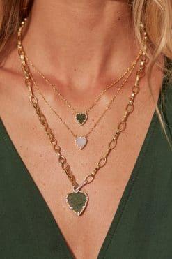 lima gemstone necklace aventurine wish paris jewellery