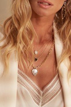 lima gemstone necklace black onyx wish paris jewellery