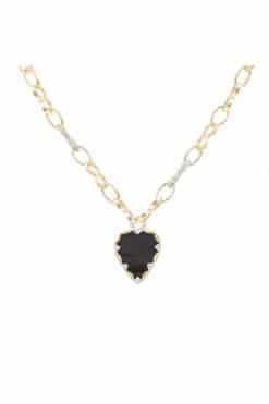 lima long gemstone necklace black onyx wish paris jewellery