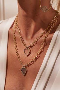 lima long gemstone necklace labradorite wish paris jewellery