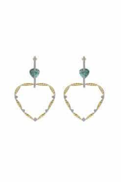lima gemstone hoop earrings aventurine wish paris jewellery