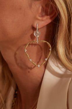lima gemstone hoop earrings mother of pearl wish paris jewellery