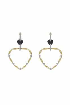lima gemstone hoop earrings black onyx wish paris jewellery