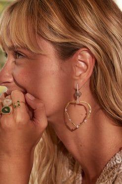 lima gemstone hoop earrings labradorite wish paris jewellery