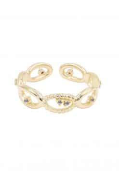 koyah adjustable ring white zircons wish paris jewellery