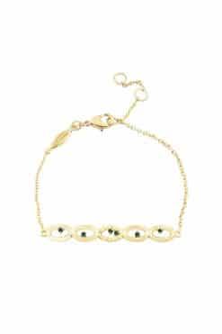 koyah chain bracelet green zircons wish paris jewellery