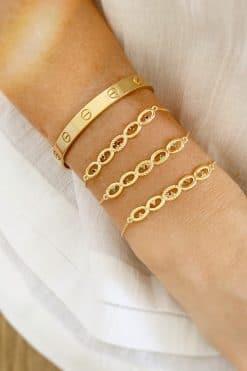 koyah chain bracelet black zircons wish paris jewellery