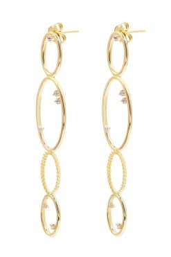 koyah pendant earrings white zircons wish paris jewellery