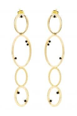 koyah pendant earrings black zircons wish paris jewellery