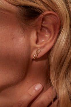 koyah stud earrings white zircons wish paris jewellery