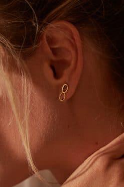 koyah stud earrings black zircons wish paris jewellery