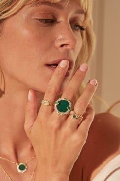 janih gemstone ring green onyx wish paris jewellery
