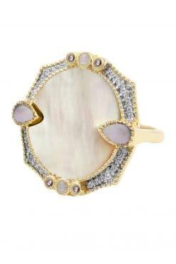 janih gemstone ring mother of pearl wish paris jewellery