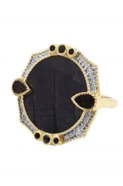 janih gemstone ring black onyx wish paris jewellery