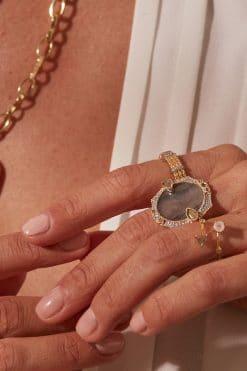 janih gemstone ring labradorite wish paris jewellery