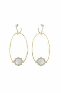 janih gemstone earrings mother of pearl wish paris jewellery