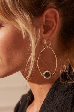 janih gemstone earrings black onyx wish paris jewellery