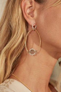 janih gemstone earrings labradorite wish paris jewellery
