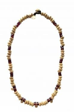 peggy bead necklace garnet wish paris jewellery